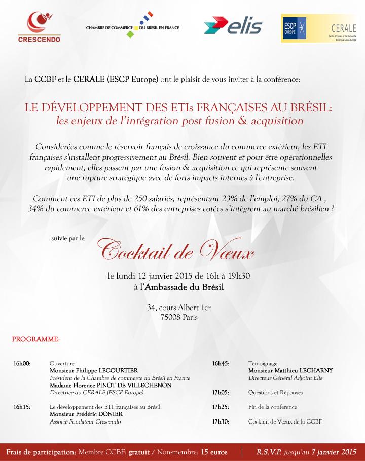 Invitation Conférence & Cocktail de voeux